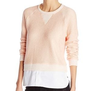 BCBG • Coral sweatshirt with Shirttail